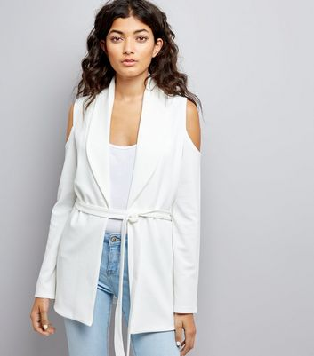 Cameo Rose Cream Cold Shoulder Jacket