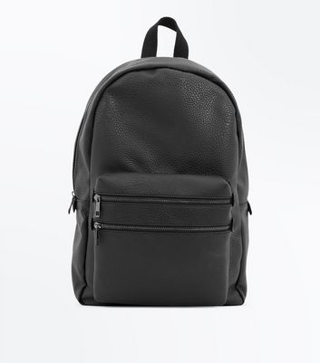 Black Double Zip Front Backpack