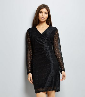 Mela Black Chain Lace Bodycon Dress