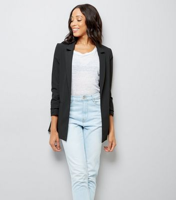 Tall Black Longline Blazer