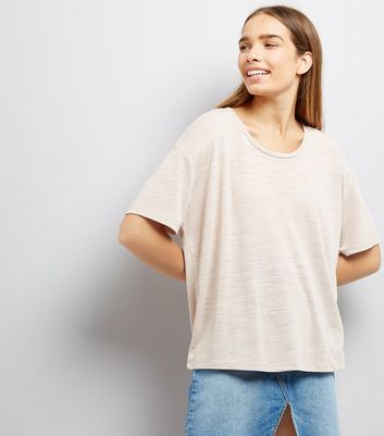 Mink Textured Boxy T-Shirt