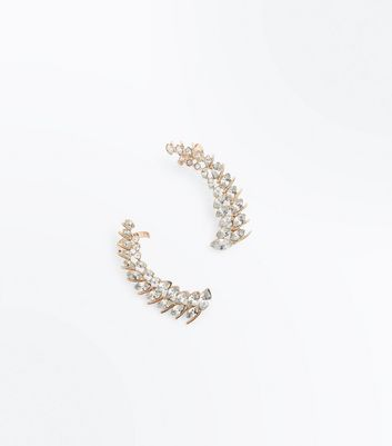 Gold Stone Embellished Earcuff Pack