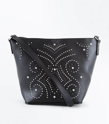 Black Western Stud Bucket Bag