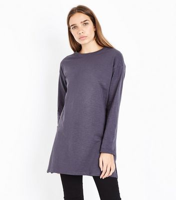 Dark Grey Organic Cotton Tunic Top