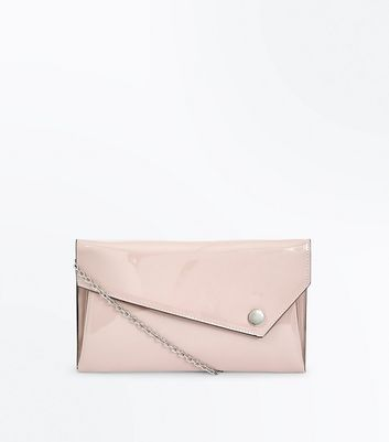 Nude Asymmetric Flat Clutch Bag