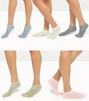 5 Pack Assorted Trainer Socks