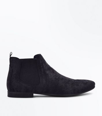 Black Pointed Toe Chelsea Boots