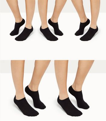 5 Pack Black Low Rise Socks