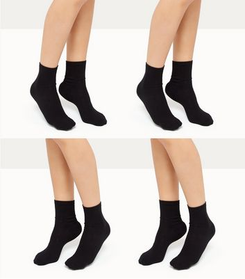 4 Pack Black Socks