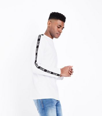 White NYC Side Panel Printed Top