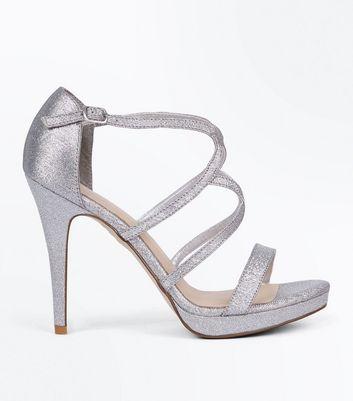 a1bccc6792d9 HANNAWU silver rhinestone Strappy high heels fashion women s Gladiator  wedding shoes … Silver High Heel Shoes