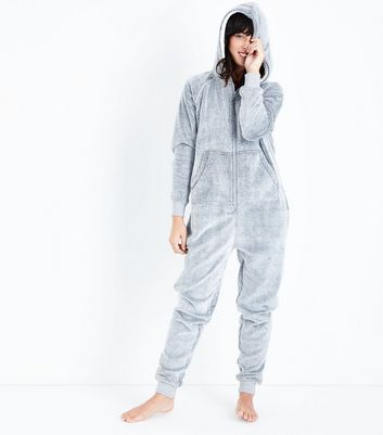 Pale Grey Borg Onesie