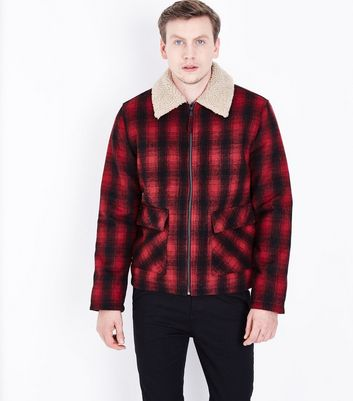 Red Check Aviator Jacket