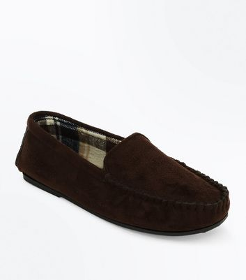 Dark Brown Moccasin Slippers
