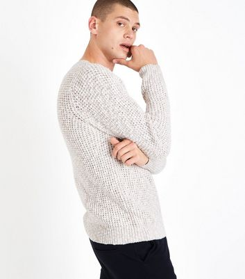 Stone Loose Knit Jumper