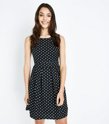 Mela Black Polka Dot Dress