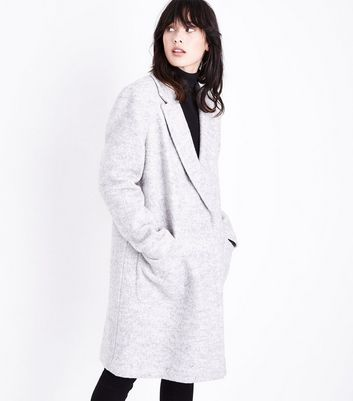 Grey Pocket Front Car Coat