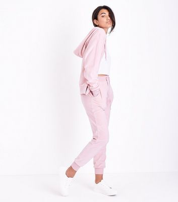 Pink Paris Embellished Velour Joggers