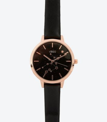 Black Strap Virgo Star Sign Watch