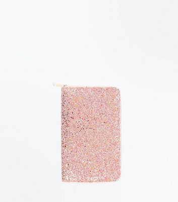Pink Glitter Travel Wallet