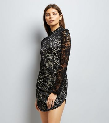 AX Paris Black Lace Bodycon Dress