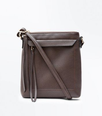 Dark Brown Cross Body Bag