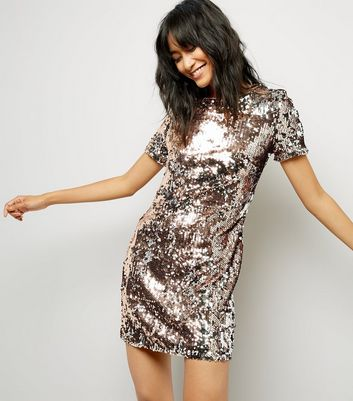 Parisian Gold Sequin Bodycon Dress