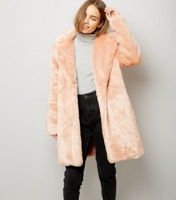 Parisian Pink Faux Fur Coat