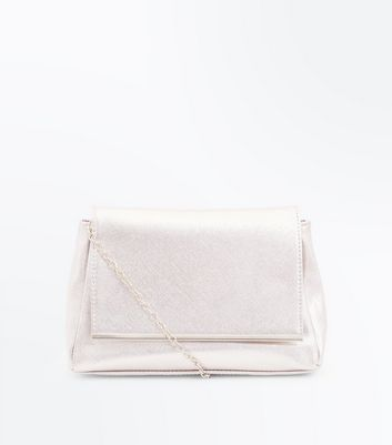 Rose Gold Shimmer Clutch Bag