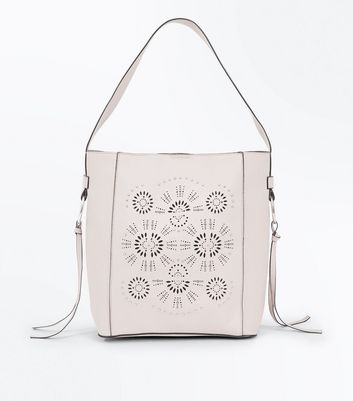 Mink Cut Out Studded Tote Bag