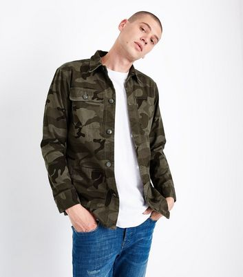 Brown Camo Print Shacket