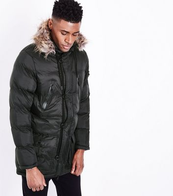 Black Quilted Parka Jacket