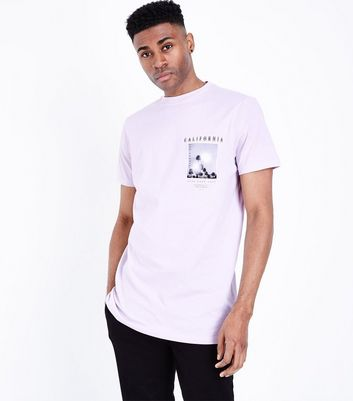 Pink California Print Detail T-Shirt