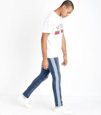 Blue Side Stripe Jeans