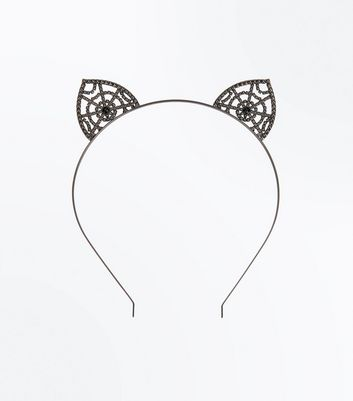Cobweb Embellished Cat Ear Headband