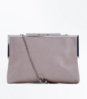 Mink Chain Strap Oversized Clutch Bag