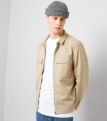 Tan Zip Through Shacket
