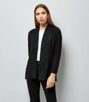 Mela Black Knitted Cardigan