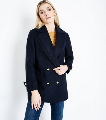 Navy Double Breasted Pea Coat