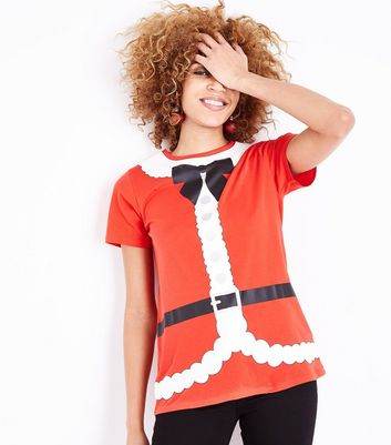 Red Christmas Santa T-Shirt