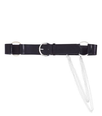 Black Chain Drop Jeans Belt