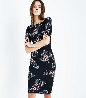 AX Paris Black Floral Midi Dress