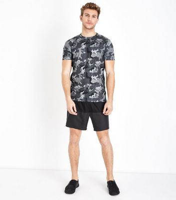 Dary Grey Colour Block Sports Shorts