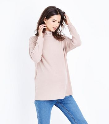 Maternity Mink Cowl Neck Brushed Top
