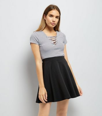 Black Mini Skater Skirt