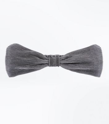 Silver Pleated Headband