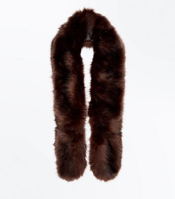 Brown Faux Fur Stole