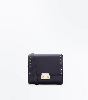Black Side Stud Shoulder Bag