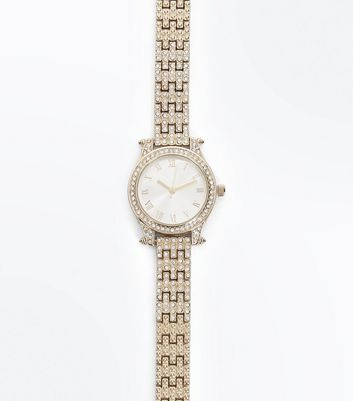 Gold Stone Metallic Sports Watch