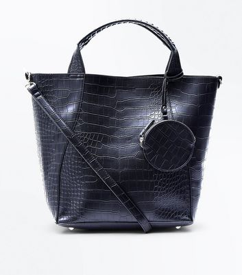 Black Snake Embossed Bag